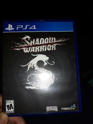 SHADOW WARRIOR SONY PS4 VIDEO GAME