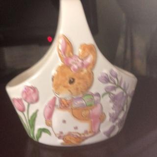 Ceramic Easter Basket .
