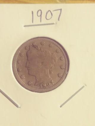 1907 Liberty V Nickel! 95