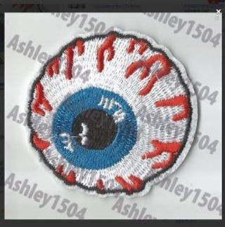 1 NEW IRON ON ADHESIVE PATCH Eye Ball Globe Embroidered FREE SHIPPING