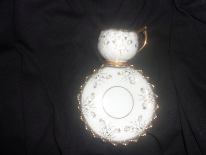 Vintage Antique Porcelain Demitasse Cup and Saucer