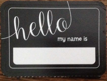 10 sticker Name Tags