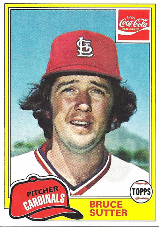 Free 1981 Topps Coca Cola Baseball Card Bruce Sutter St
