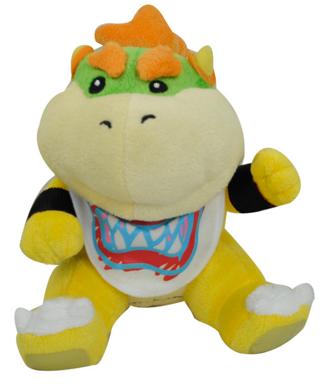 Free New Super Mario Bros Bowser Jr Plush Dolls Stuffed