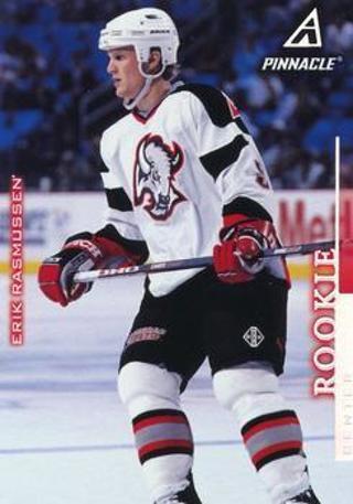 1997-98 Pinnacle #3 Erik Rasmussen RC Buffalo Sabres
