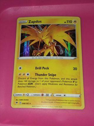 Rare Holo Zapdos Vivid Voltage mint Pokemon Card