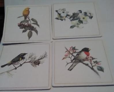 Set  4 Square Bird Coaster`s