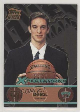 2001 topps xpectations#103-pau gasol-rookie card-rc-mt