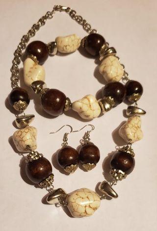 Paparazzi Necklace Earrings and Bracelet Set