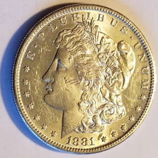 1881-S Morgan Silver Dollar Uncirculated details
