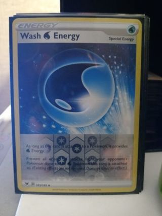 POKEMON REVERSE HOLO ENERGY CARD: WASH ENERGY SWSH04 VIVID VOLTAGE