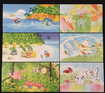 Pokemon Collecter Southern Island Postcard Collection & Christmas Cards