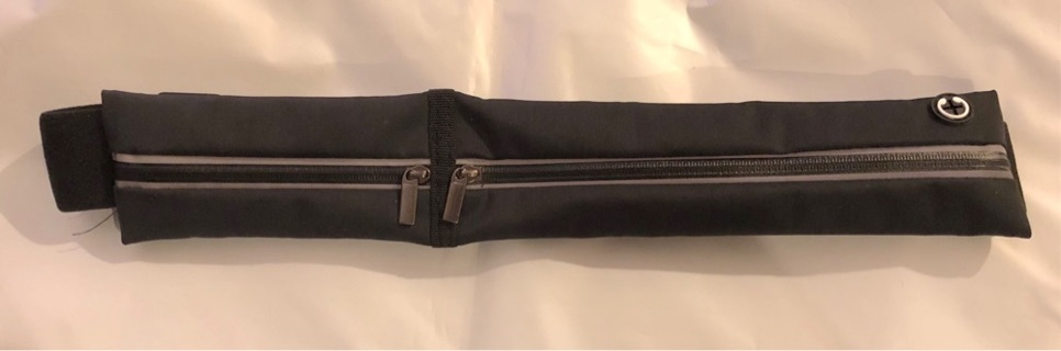 BNIP Black Fanny Pack w/Zip Compartments, Pockets and an Adjustable Strap. Secure & Trendy