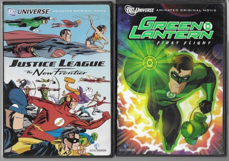lot of 3 DC Super Hero Animated Movies