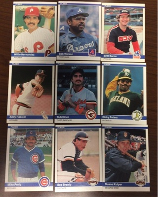 Free 1984 Fleer Baseball Lot Sports Trading Cards