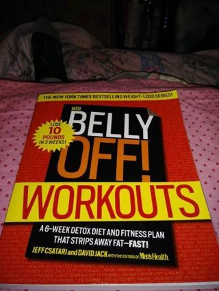 ★♥★♥★BRAND NEW THE BELLY OFF! ™ WORKOUTS BOOK★♥★♥★BY:JEFF CSATARI & DAVID JACK(LAST 1!)