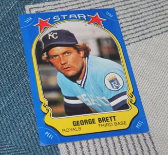 1981 Fleer Baseball George Brett Sticker Checklist #2 MLB Kansas City Royals