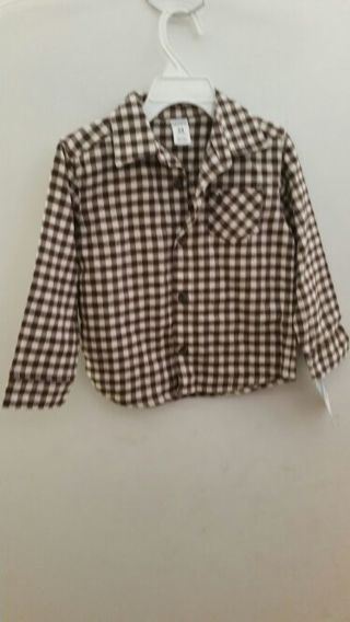 NWT Carter's Toddler Boy Long Sleeve Shirt 24 Months