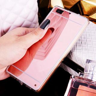 Luxury Rose Gold Mirror Electroplating Soft TPU Case Back Cover For Huawei P8 P9 lite P9lite G9lit