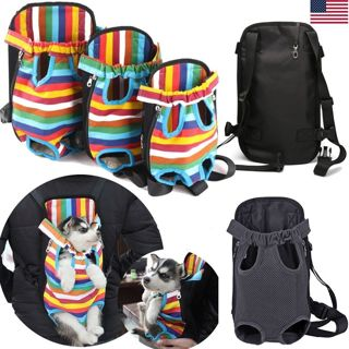 Nylon Mesh Pet Puppy Dog Carrier Backpack Front Net Bag Tote Cat Sling Carrier L