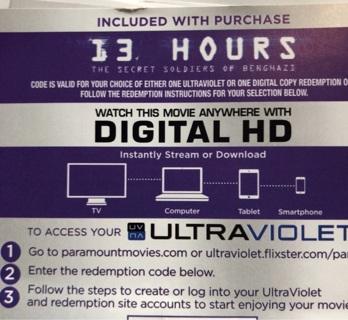 13 Hours digital copy