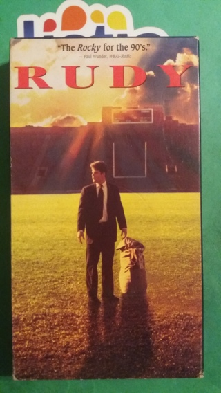 VHS  rudy  free shipping