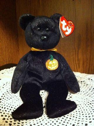 Free Ty Beanie Babies Haunt Teddy Bear Pumpkin Halloween