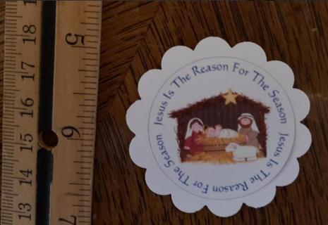 Manger Reason For The Season Christmas Magnet 3
