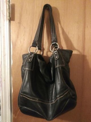 ❤ The Sak black leather 2 strap shoulder bag ❤