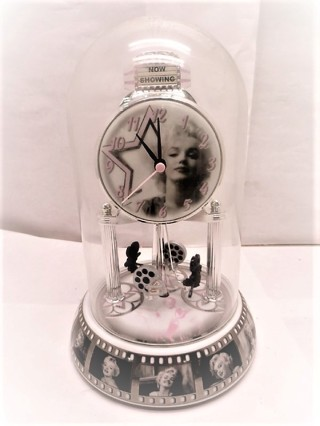 Marilyn Monroe Glass Dome Clock