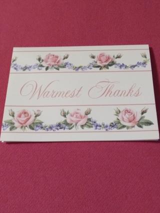 Warmest Thanks Notecards
