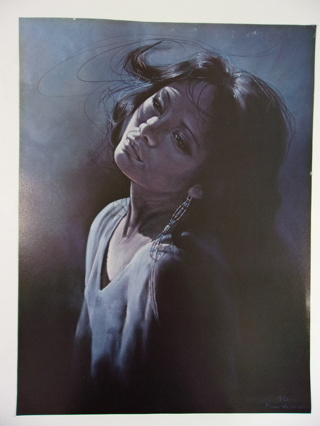Penni Anne Cross Alawa-sta-we-ches Print Native American Woman 12x16