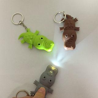 Lovely Crocodile Shape LED Toys with Sound Mini Torch Flashlight Kids Toy Gifts