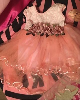 Super soft and pretty baby dress 3-6mo