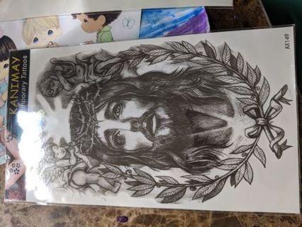 Jesus temporary tattoo