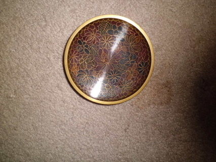 ANTIQUE CHINESE CLOISONEE TRINKET DISH MINT CONDITION FREE SHIPPING!!