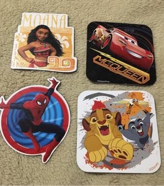 4 Disney magnets