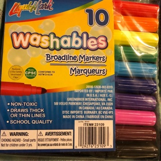 BN 10 LIQUID MARK Broad Line Markers. Gr8 For Illustration, Special Effects,School,Crafts