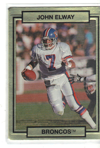 Free 1990 John Elway 3d Sculptured With Auto Box On Rear