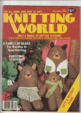 Craft Magazine: Knitting World: December 1981