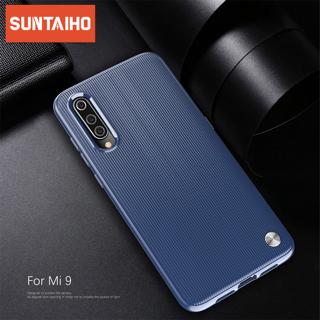 Suntaiho Striped Silicone Case For Xiaomi mi 9 xiaomi CC 9 Case Fashion Soft TPU Cover Case For