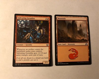 Two 2016 Magic the Gathering Collectable Trading Game Cards