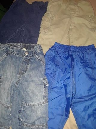 Baby boy toddler size 12 18 pants jeans elastic waist denim cotton athletic free shipping