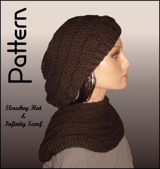 Free Pdf Knitting Pattern Ladies Slouchy Hat And Infinity Scarf