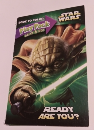 STAR WARS SMALL COLORING BOOK. WITH STICKERS USE YOUR OWN CRAYONS LOT 1