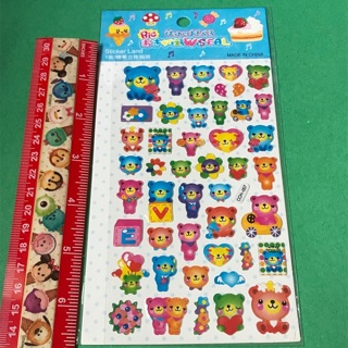 Fun Bears Kawaii Epoxy Sticker sheet NEW