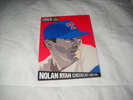 Free 86 Nolan Ryan Upper Deck Collectors Choice 1993