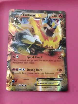 Emboar EX Ultra Rare Pokemon Card Mint
