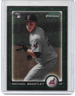 Michael Brantley 2010 Bowman Chrome #204 Rookie Card