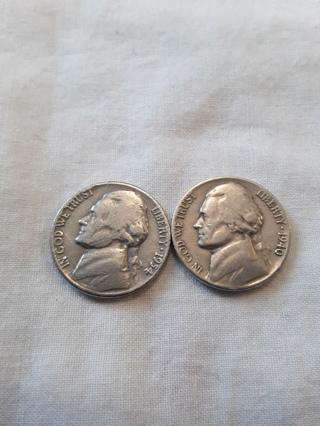 2 older Nickels 1940 & 1954-D Winner gets both (#Q)